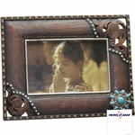 Turquoise Concho Tooled 6x4 FRAME