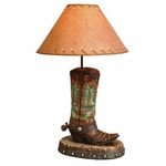 Turquoise Cowboy Boot Lamp