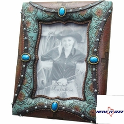 Turquoise Paisley  5X7 FRAME