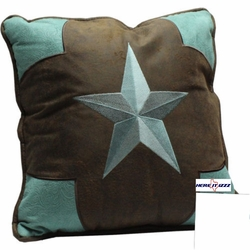 Turquoise Star   Pillow