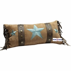 Turquoise Triple Star Pillow