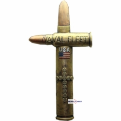 United States Naval Fleet Bullet Wall Cross