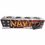 United States Navy Four Votive Candle Holder