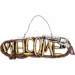 Welcome Sign Pistol Six Shooter Bullets