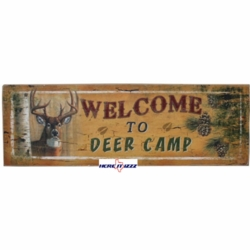 Welcome To The Deer Camp Wooden Wall Art