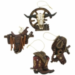 Western Cowboy Boot Saddle Hat 4 Piece Set