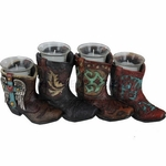 Western Cowboy  Cowgirl Boots with Votive Candles