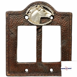 Western Horse Head Double Decora Cover
