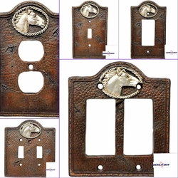 Western Horse Head  Electrical Covers
