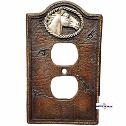 Western Horse Head Outlet Cover