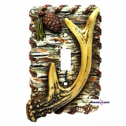 Birch Antler Single Switch Cover
