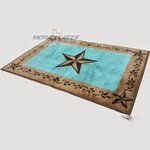 Western Turquoise Star Bath & Kitchen Rug