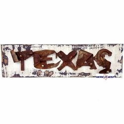 Wooden Plank Wall Art Texas