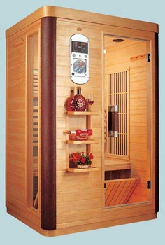 two person deluxe infrared sauna. Black Bedroom Furniture Sets. Home Design Ideas