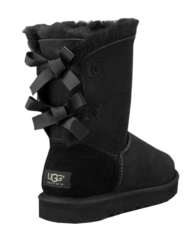 black bailey bow uggs boots. Black Bedroom Furniture Sets. Home Design Ideas