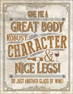 Another Glass of Wine Tin Signs