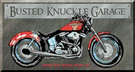 Busted Knuckle - Bike Tin Signs