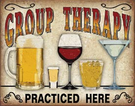 Group Therapy Tin Signs