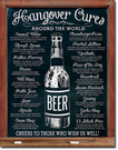Hangover Cures Tin Signs