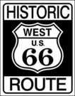 Historic Route 66 Tin Signs