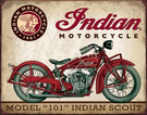 Indian Scout Tin Signs