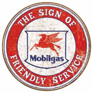 Mobil - Friendly Service Tin Signs