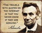 Quotes on the Internet Tin Signs