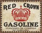 Red Crown - Checker Board Tin Signs