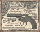 S&W - 1892 Gov. Contracts Tin Signs