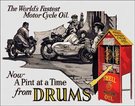 Shell - Motorcycle Oil Tin Signs