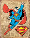 Superman Weathered Panels Tin Signs