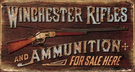 Winchester - Rifles & Ammo Tin Signs