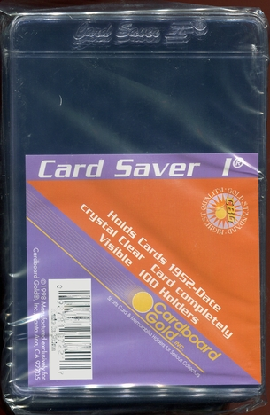 100ct Cardboard Gold Card Saver 1 - Semi Rigid Sleeves
