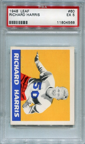 1948 Leaf Richard Harris #60 PSA 5