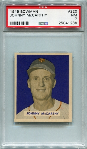 1949 Bowman Johnny McCarthy #220 PSA 7