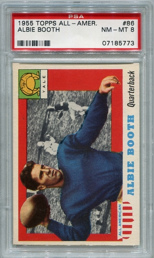 1955 Topps All-American Albie Booth #86 PSA 8