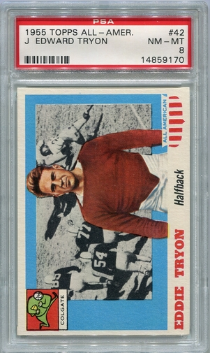 1955 Topps All-American J. Edward Tryon #42 PSA 8