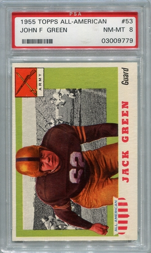 1955 Topps All-American John F. Green #53 PSA 8