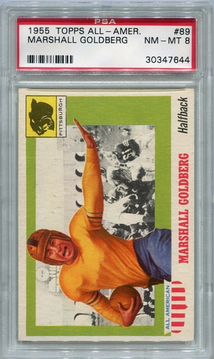 1955 Topps All-American Marshall Goldberg #89 PSA 8