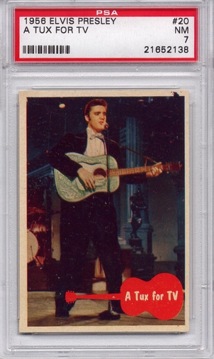 1956 Elvis Presley - A Tux For TV #20 PSA 7