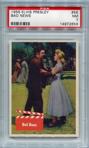 1956 Elvis Presley - Bad News #56 PSA 7
