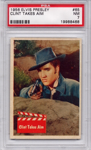 1956 Elvis Presley - Clint Takes Aim #65 PSA 7