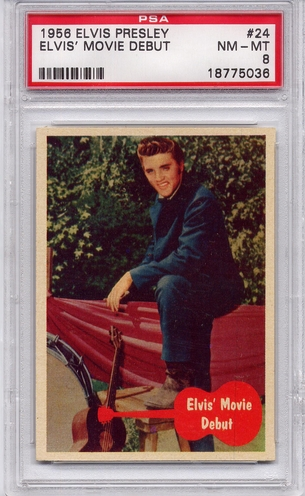 1956 Elvis Presley - Elvis' Movie Debut #24 PSA 8