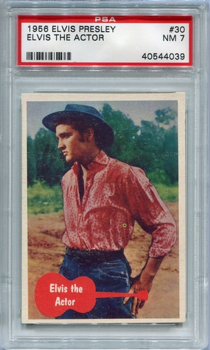 1956 Elvis Presley - Elvis The Actor #30 PSA 7