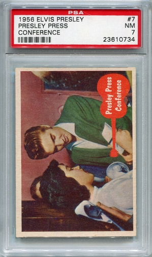 1956 Elvis Presley - Presley Press Conference #7 PSA 7