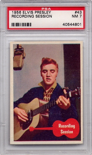 1956 Elvis Presley - Recording Session #43 PSA 7