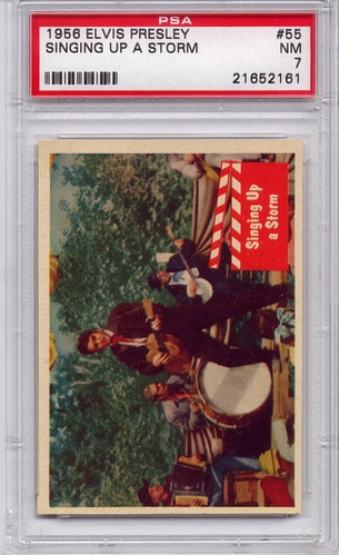 1956 Elvis Presley - Singing Up A Storm #55 PSA 7