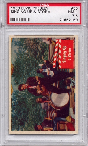 1956 Elvis Presley - Singing Up A Storm #55 PSA 7.5