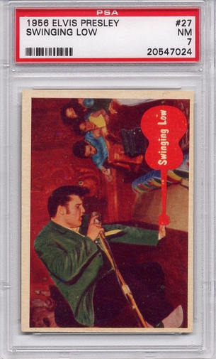1956 Elvis Presley - Swinging Low #27 PSA 7