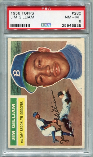 1956 Topps Jim Gilliam #280 PSA 8